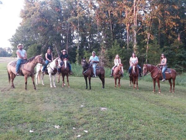 Riding side by side with our grand kids