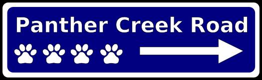 Panther Creek Road web logo