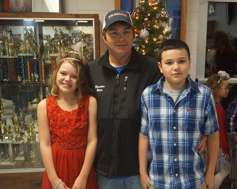 This is our son Chase with his children Hunter and Haylee
